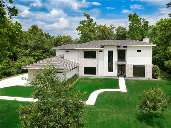 elevated photography of Raleigh, NC home with drone